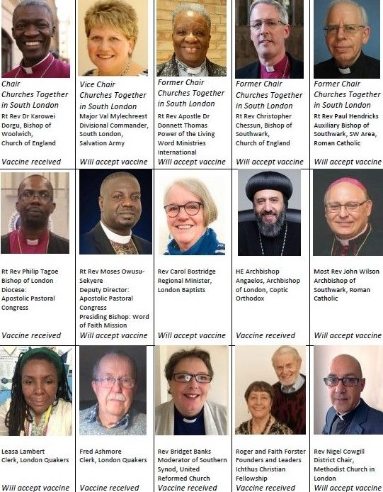 Churches Together in South London Leaders.