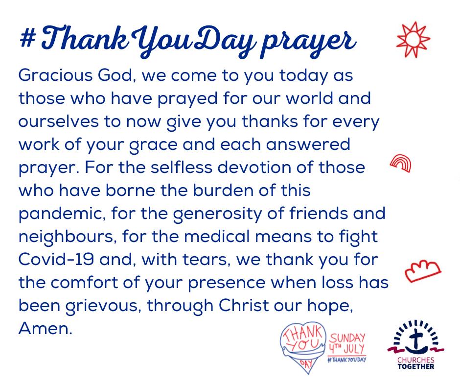 Thank You Day prayer 2021